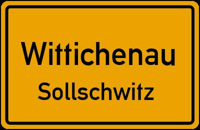 Ortsschild Wittichenau Sollschwitz
