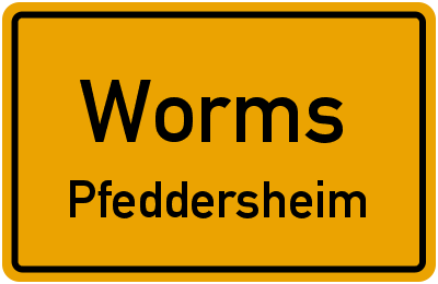 Robert-Koch-Straße in WormsPfeddersheim
