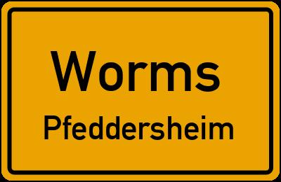 Straßenverzeichnis Worms Pfeddersheim