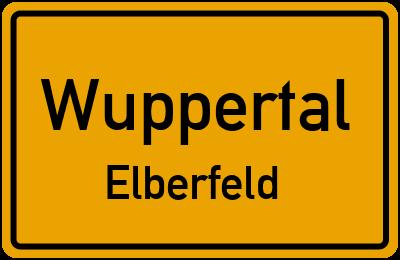 Ortsschild Wuppertal Elberfeld