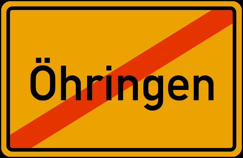Ortsschild Öhringen