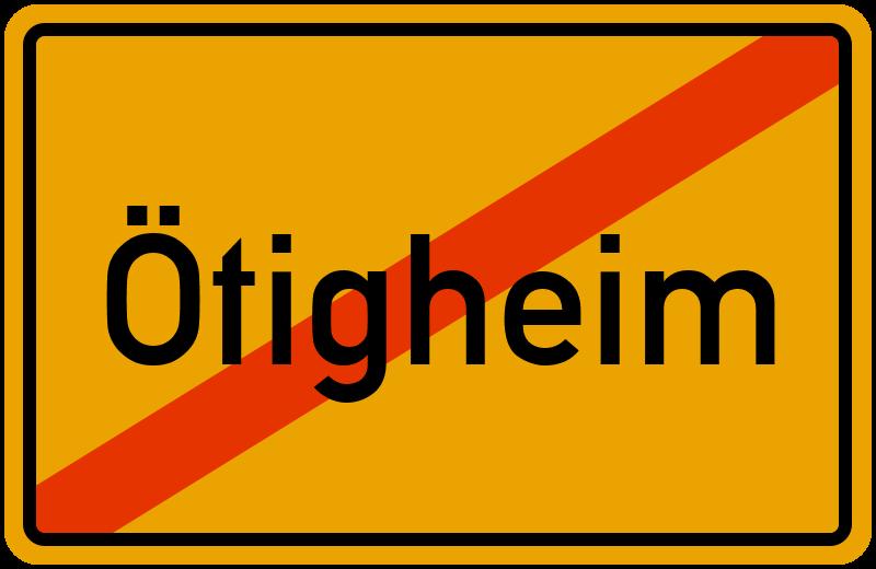 Ortsschild Ötigheim