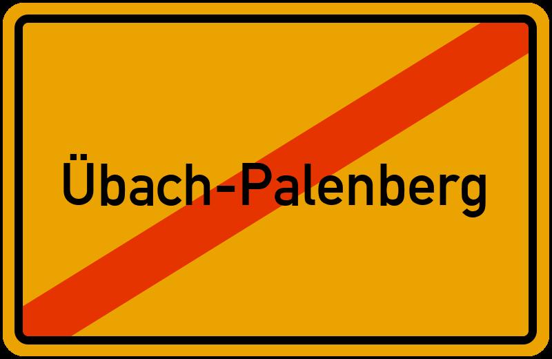 Ortsschild Übach-Palenberg