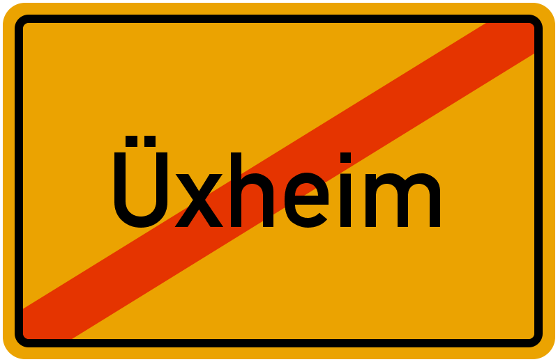 Ortsschild Üxheim