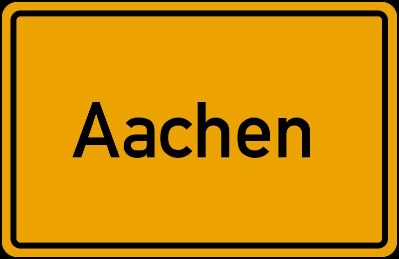 Ortsschild Aachen