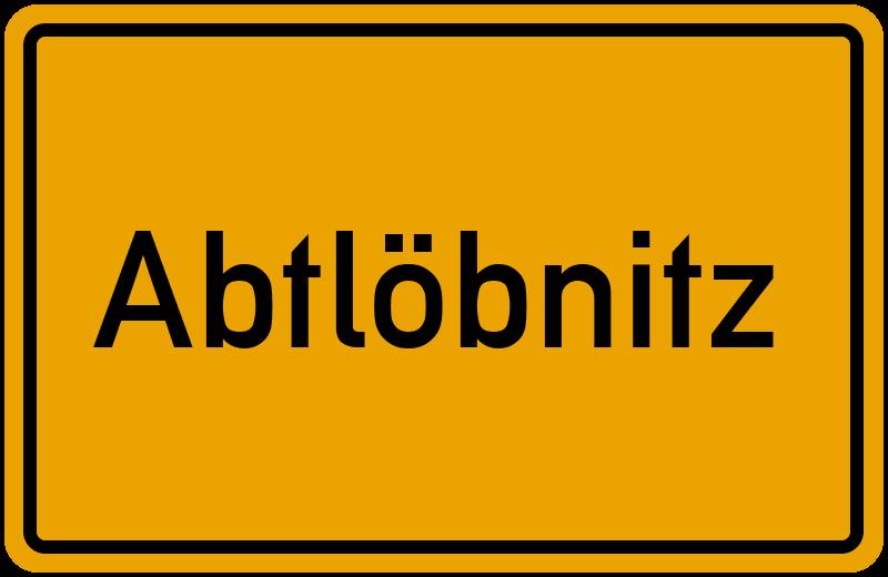 onlinestreet Branchenbuch für Abtlöbnitz