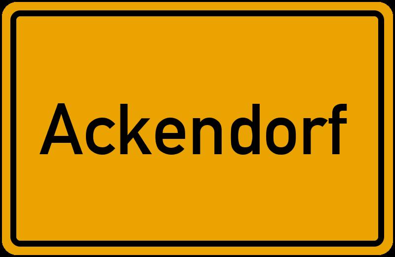 onlinestreet Branchenbuch für Ackendorf