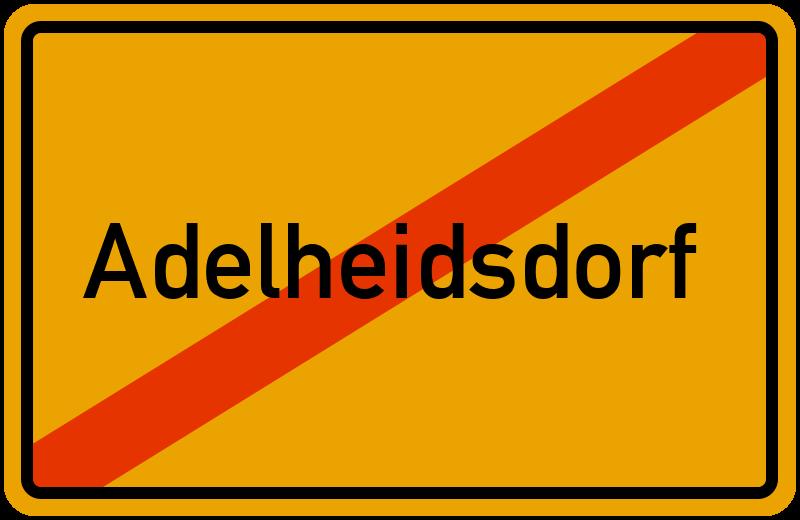 Ortsschild Adelheidsdorf