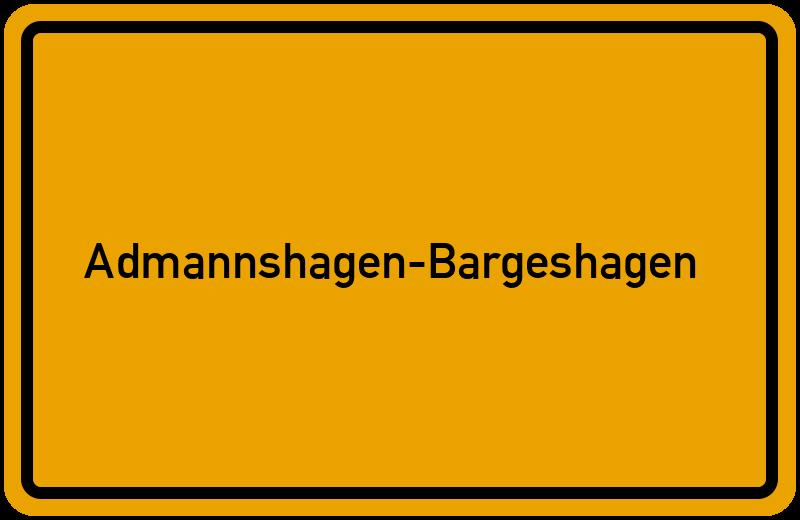 Ortsschild Admannshagen-Bargeshagen