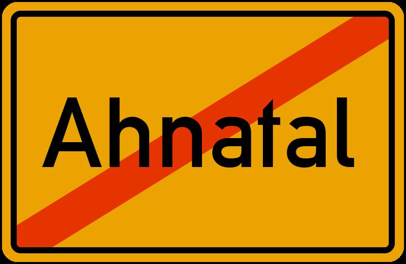Ortsschild Ahnatal