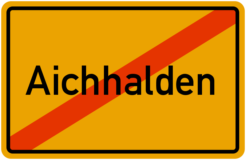 Ortsschild Aichhalden