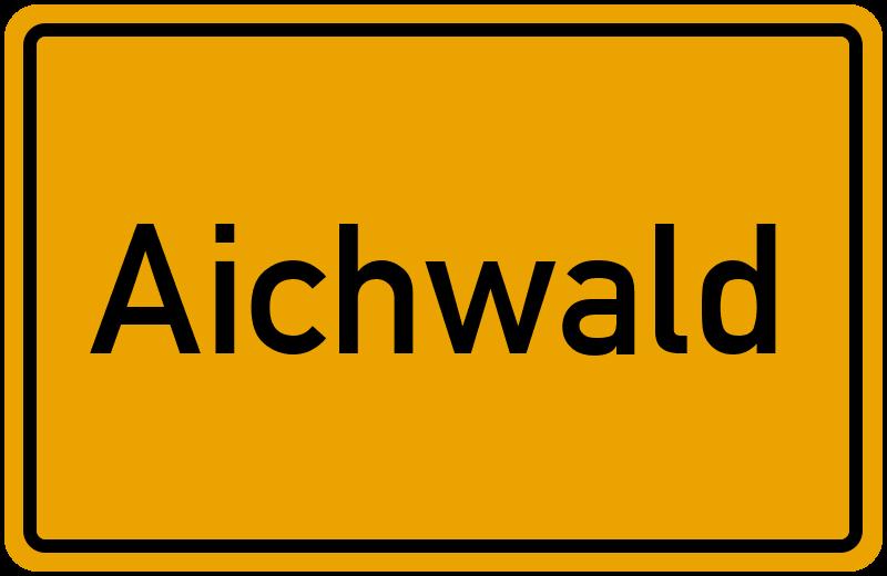Ortsschild Aichwald
