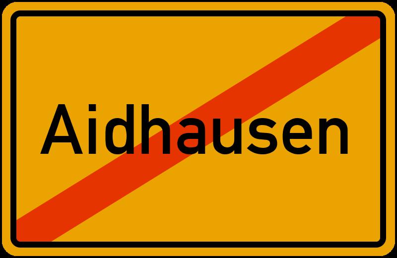 Ortsschild Aidhausen
