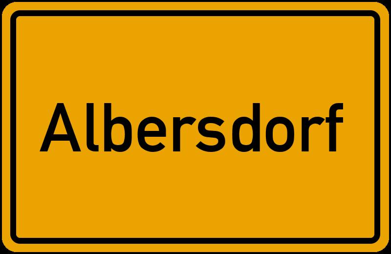 Ortsschild Albersdorf