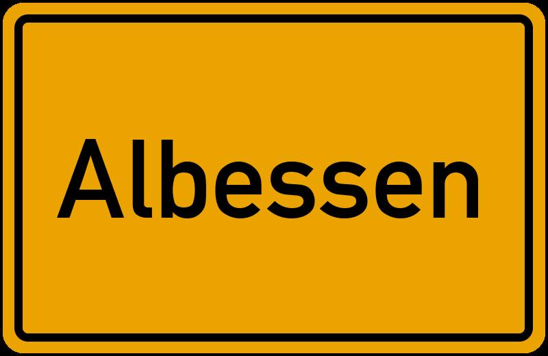 Ortsschild Albessen