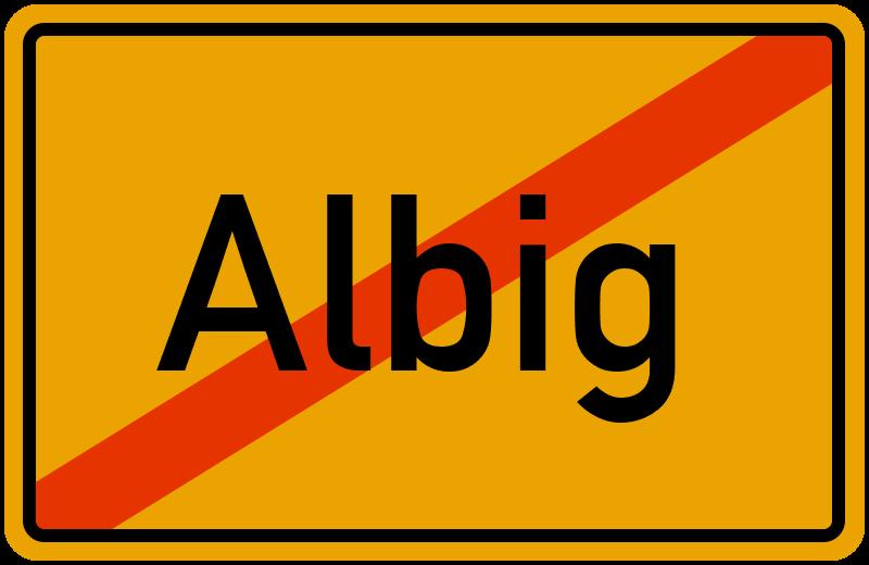 Ortsschild Albig
