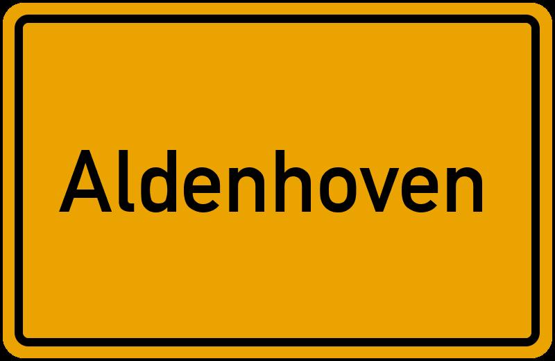 Ortsschild Aldenhoven