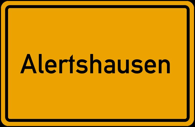 Ortsschild Alertshausen