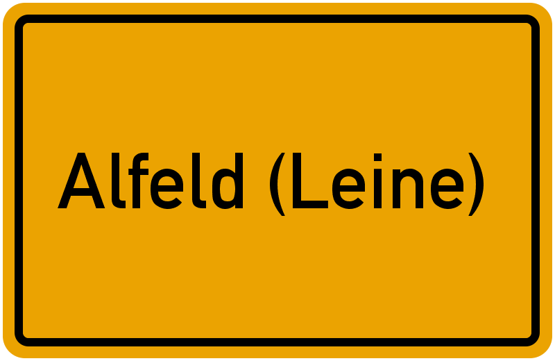 Ortsschild Alfeld (Leine)