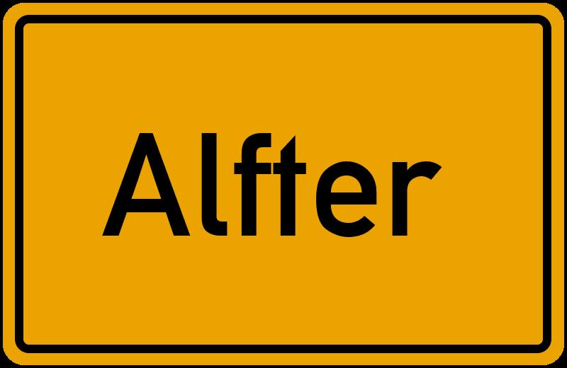 Ortsschild Alfter
