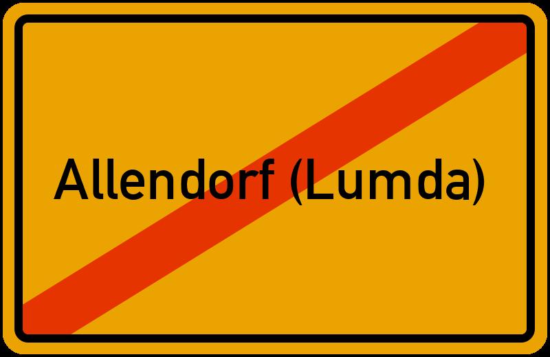 Ortsschild Allendorf (Lumda)