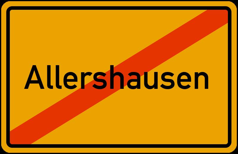 Ortsschild Allershausen