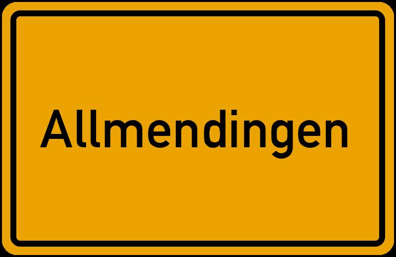 Ortsschild Allmendingen