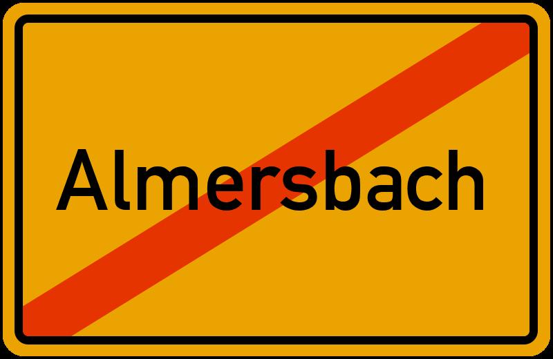 Ortsschild Almersbach