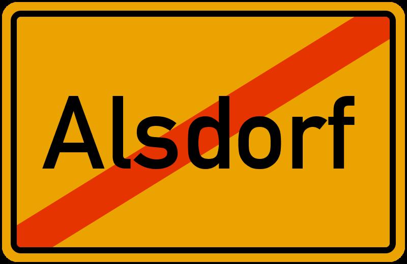 Ortsschild Alsdorf