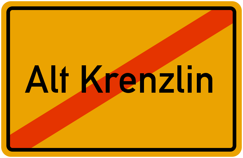 Ortsschild Alt Krenzlin