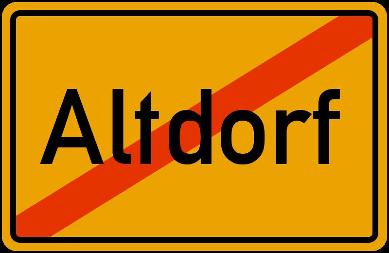 Ortsschild Altdorf