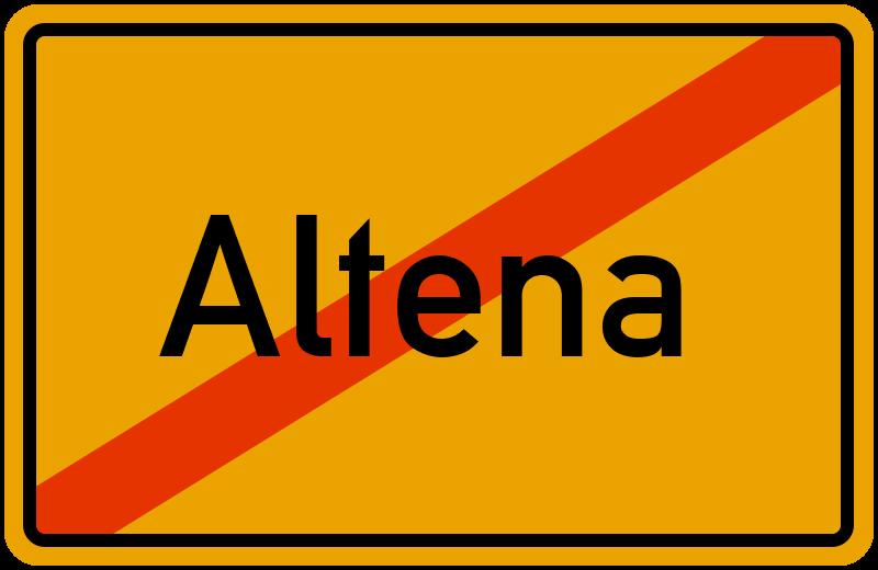 Ortsschild Altena