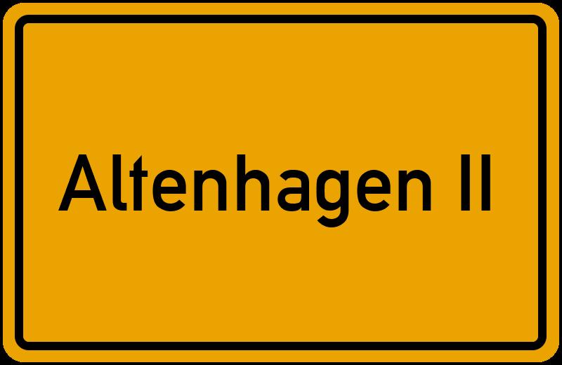 Ortsschild Altenhagen II