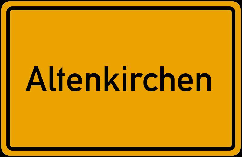 Ortsschild Altenkirchen