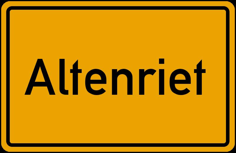 onlinestreet Branchenbuch für Altenriet