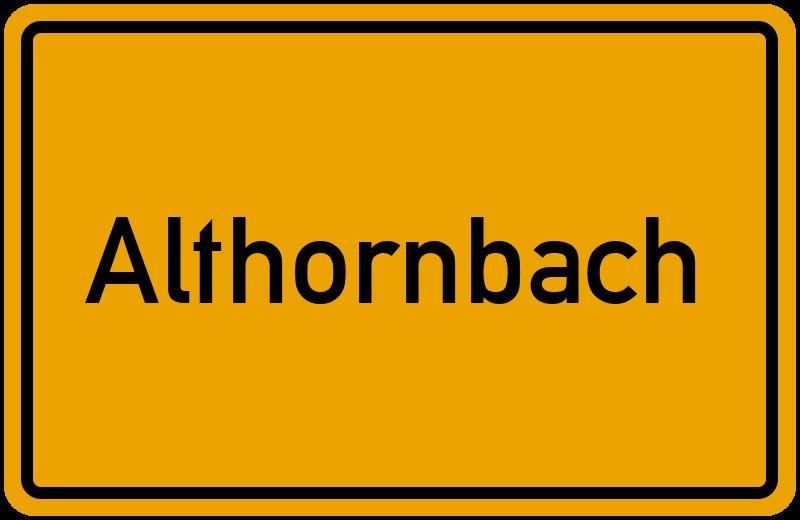 onlinestreet Branchenbuch für Althornbach