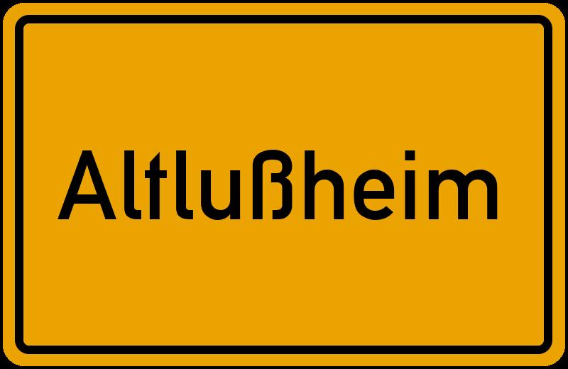 Ortsschild Altlußheim