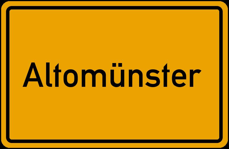 Ortsschild Altomünster