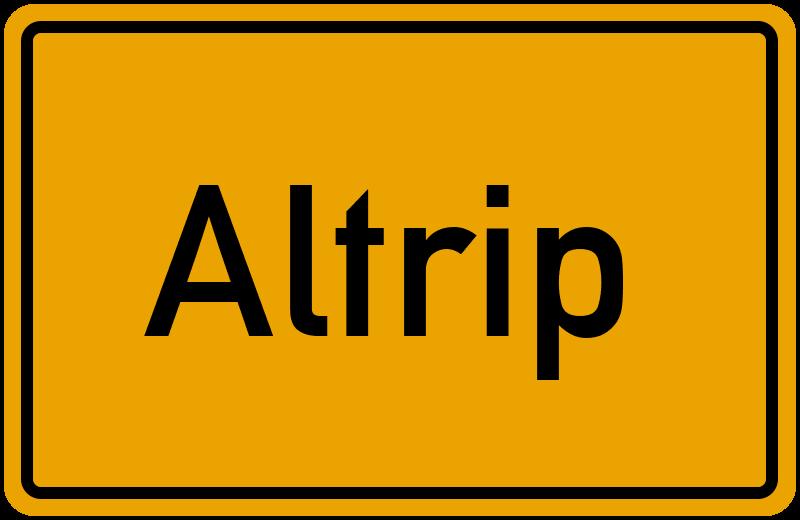 Ortsschild Altrip