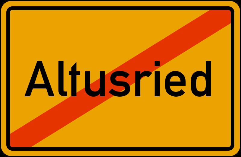 Ortsschild Altusried