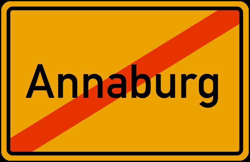 Ortsschild Annaburg