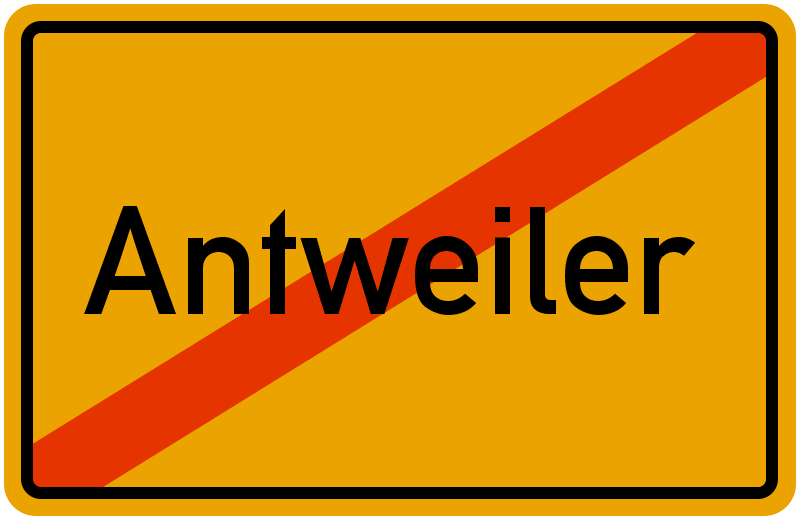 Ortsschild Antweiler