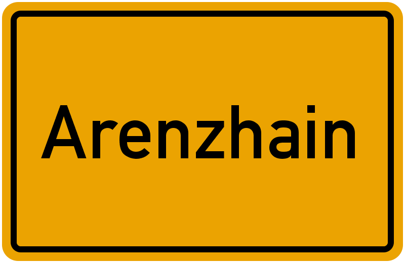 Ortsschild Arenzhain