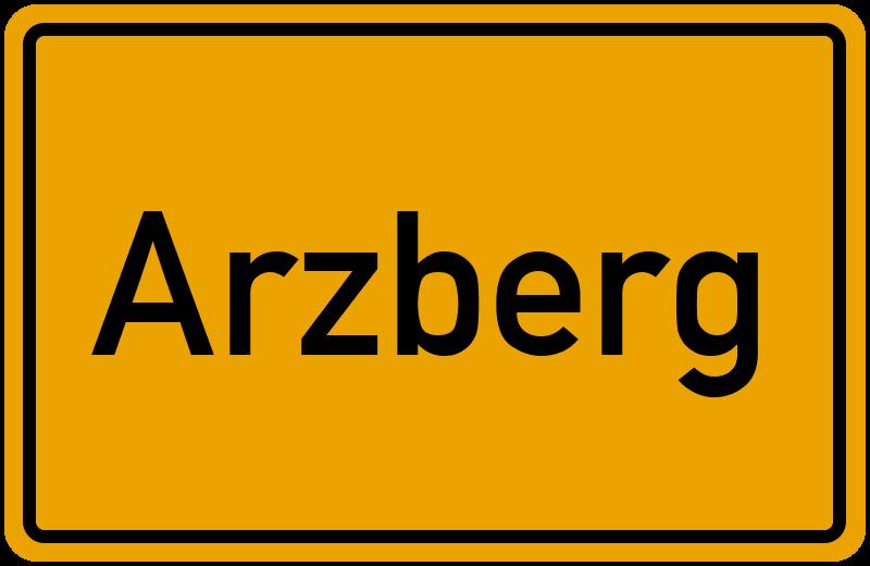 Ortsschild Arzberg