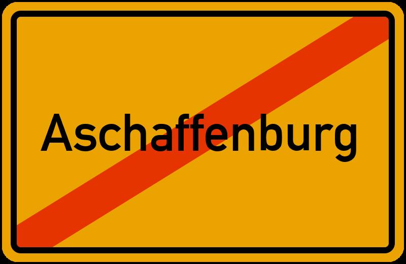 Ortsschild Aschaffenburg