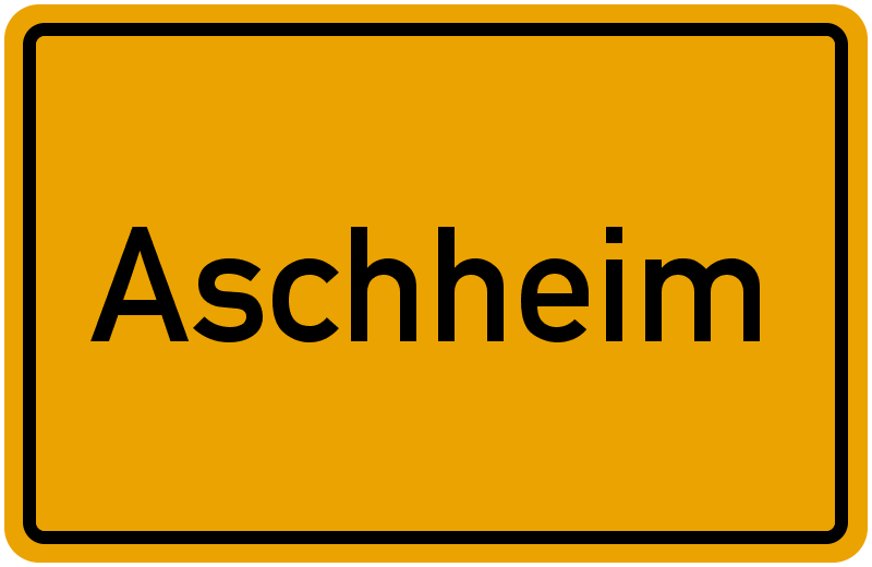 Ortsschild Aschheim