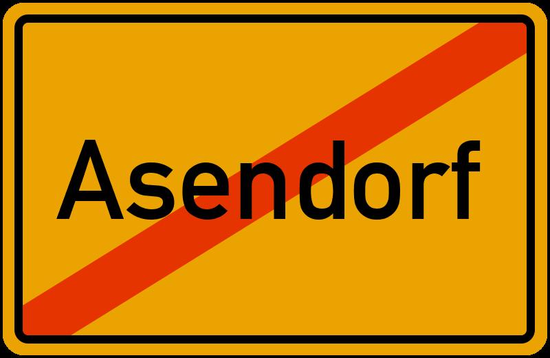 Ortsschild Asendorf