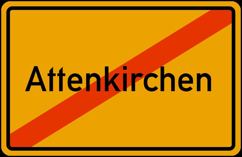 Ortsschild Attenkirchen