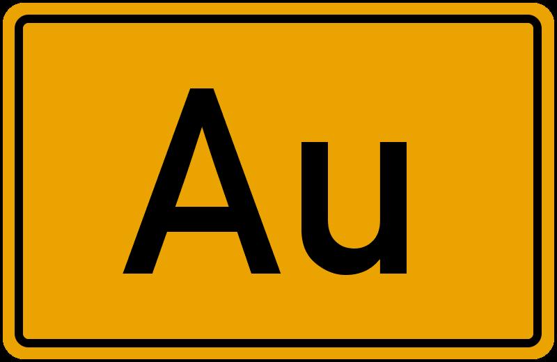 Ortsschild Au