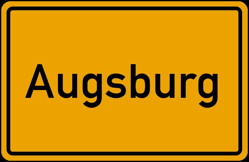 Ortsschild Augsburg